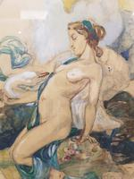 Exclusive Russian Symbolism Painting from Private Collection. #2 Leda with a Swan (3 of 6)