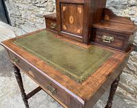 Antique Rosewood Inlaid Writing Desk (13 of 19)