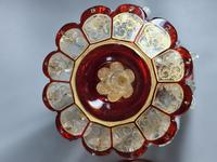 Magnificent Pair of Mid 19th Century Candle Lustres 'Possibly Baccarat' Gilded & Ruby Decoration (17 of 18)