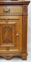 Oak Arts & Crafts Aesthetic, Cabinet Bookcase (6 of 10)