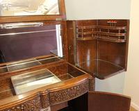 Antique Impressive Burr Oak Cocktail Drinks Cabinet (3 of 16)