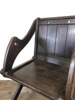 Unusual Antique Oak Gothic Armchair (2 of 9)