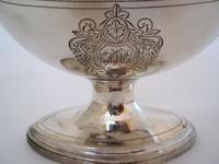 George III Oval Silver Sugar Basket with a Reeded Swing Handle (3 of 7)
