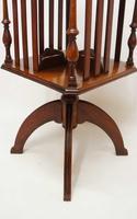 Small Edwardian  Mahogany Regency  Revival  Revolving Bookcase on Stand (8 of 11)
