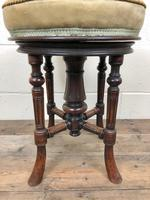 Antique Victorian Walnut Piano Stool with Adjustable Height (11 of 11)