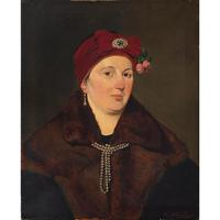 Helene Russo, Portrait of Lady in Furs, Oil Painting (2 of 7)