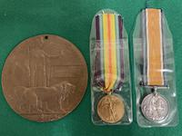 South Wales Border Private William Scott Medals & Death Plaque (2 of 10)
