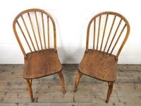 Pair of Antique Hoop Back Farmhouse Chairs (2 of 13)