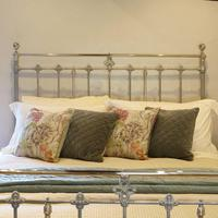 Antique Bed with Nickel Plating (7 of 9)