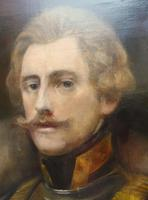 Military Officer In Armour Oil Portrait Painting On Canvas (4 of 10)