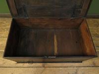 Antique Black Chest Trunk Storage Box, Ebonized finish, Gothic (17 of 18)