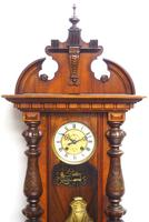 Wow! Antique German Spring Driven Striking 8-day Vienna Wall Clock by Gustav Becker (9 of 13)