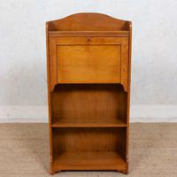 Edwardian Slim Oak Writing Bureau Arts & Crafts (4 of 9)