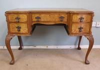 Antique Serpentine Shaped Burr Walnut Side Table (2 of 13)