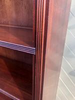 Tall English Mahogany Open Library Bookcase (10 of 10)