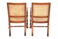 Pair of William & Mary Revival Bergere Elbow Chairs c.1930 (5 of 6)