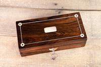 Rosewood & Mother of Pearl Desk Box 1830 (6 of 7)