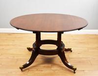 Large Mahogany Circular Extending Dining Table (3 of 12)