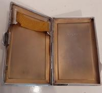 Art Deco Silver Cigarette Case, Hallmarked 1927 (3 of 4)
