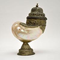 Antique Anglo Indian Silver Mounted Nautilus Shell Cup (13 of 21)