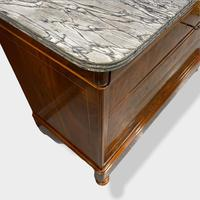 Exceptional Quality Inlaid Marble Top Commode (11 of 12)