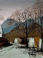 Ronald Folland Original Signed Winter Hamlet Landscape Oil Painting (8 of 12)