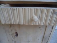 Art Deco Small Antique Pine 2 Door 2 Drawer Dresser Base to wax / paint (8 of 10)