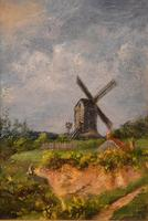 """Oil Painting by William Rackham """"Mill on the Mousehold Heath"""" (2 of 4)"""