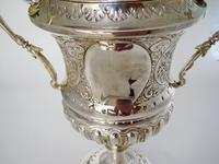 Impressive Late Victorian Campana Shaped Silver Trophy Cup (3 of 8)