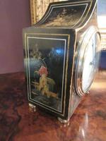 Small Antique Chinoiserie Gilt Mantel Clock (5 of 7)