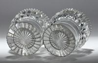 Pair of early 19th century Anglo Irish round, cut glass salts (3 of 3)