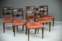 6 Regency Mahogany Dining Chairs (6 of 9)