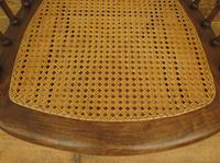Unusual Antique Bentwood Chair with Caned Seat & Back (17 of 17)