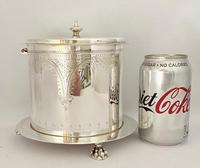 Victorian Silver Plated Biscuit Wafer Box c.1890 (8 of 9)