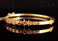 Antique Diamond Bangle 15ct Gold, Edwardian (5 of 12)