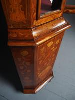 Antique Dutch Marquetry Inlaid Walnut Display Cabinet (10 of 11)