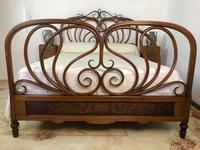 Antique Bentwood Large Double Bed By Jacob & Josef Kohn c.1900 (3 of 12)