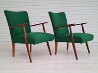Danish Design, Completely Renovated Armchairs 1970s, Kvadrat Wool, Teak (3 of 15)