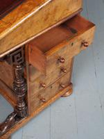 Antique Mid-victorian Burr Walnut Davenport Desk (10 of 12)