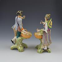 Fine Pair Minton Porcelain Sweetmeat Figures with Baskets Models 84 & 85 c.1830 (7 of 23)