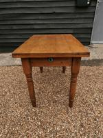 Lovely 19th century pine small farmhouse style kitchen dining table (3 of 12)