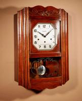 Art Deco Westminster Vedette Carillon Oak Wall Clock French c.1935 (7 of 13)