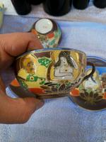Pair of Oriental Porcelain Tea Cup & Saucer with Hand Painted Geisha Lady (4 of 9)