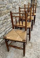 Set of 4 Antique Elm Country Chairs (8 of 13)