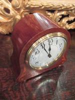 Small Edwardian Period Inlaid Mantel Clock (2 of 9)