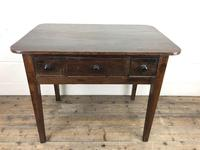 Antique 19th Century Oak Side Table (9 of 14)