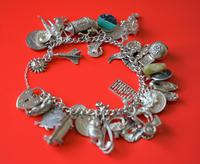 A Vintage 1963 Heavy Silver Charm Bracelet With 38 Silver Charms - Ideal Birthday Present  / Boxed (4 of 10)