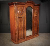 Victorian 3 Door Burr Walnut Wardrobe