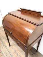 Antique Edwardian Mahogany Inlaid Cylinder Top Desk (11 of 14)