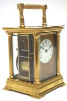 Antique Striking French 8-day Carriage Clock Unusual Masked Dial Case with Enamel Dial (4 of 11)